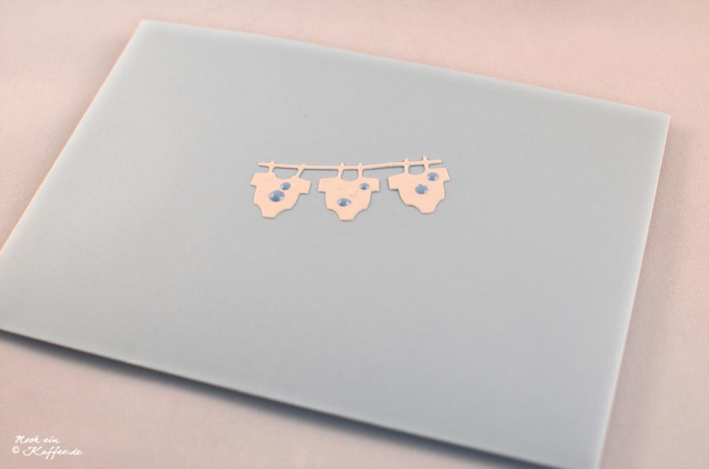 LoveAndLilies.de|Hellblaues Kuvert für Babykarte