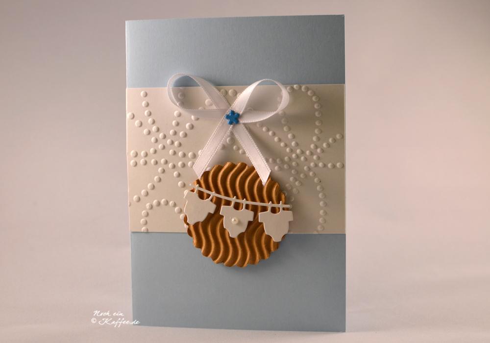 LoveAndLilies.de|Cookie Babykarte hellblau