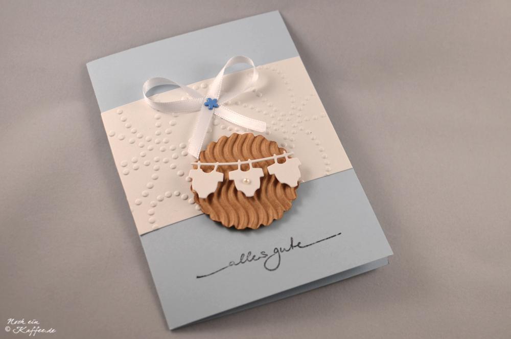 LoveAndLilies.de|Cookie Baby Karte hellblau weiß