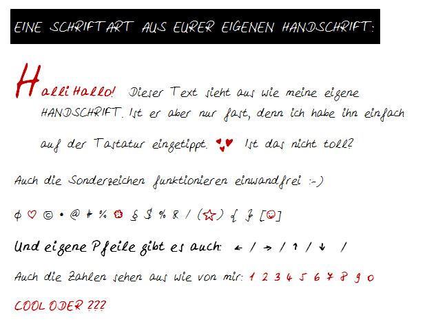 LoveAndLilies.de|Schriftbeispiel Handschrift MyScriptFont