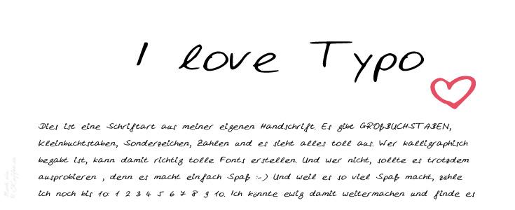 LoveAndLilies.de|Meine Handschrift als Schriftart auf dem PC