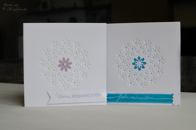 LoveAndLilies.de|Weihnachtskarten DIY Schneeflocken  / DIY Christmas Cards