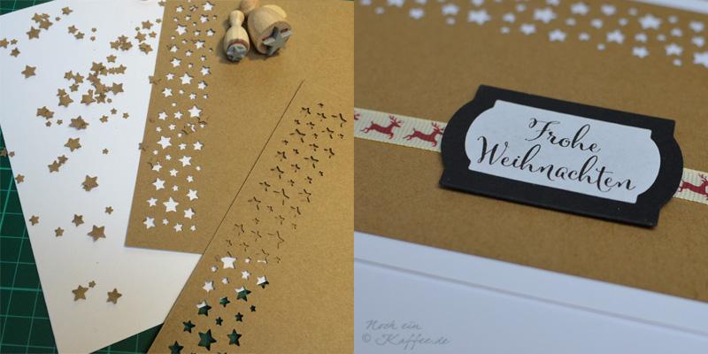 LoveAndLilies.de|Weihnachtskarten DIY Sterne / DIY Christmas Cards