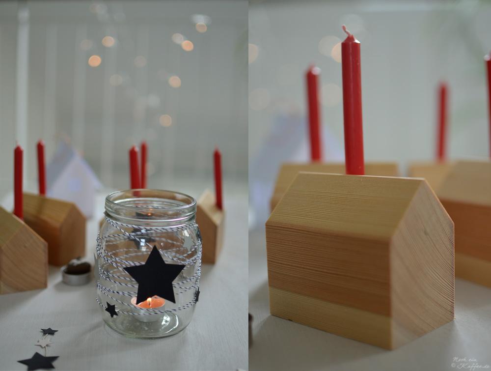 LoveAndLilies.de Mason Jar Weckglas Holzhaus Weihnachten Dekoration