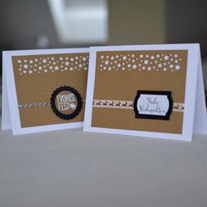 Weihnachtskarten DIY Sterne