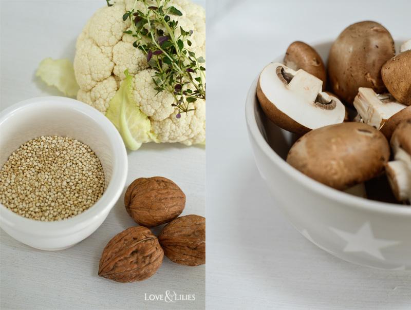 LoveAndLilies.de // Quinoa Salat mit Blumenkohl und Pilzen