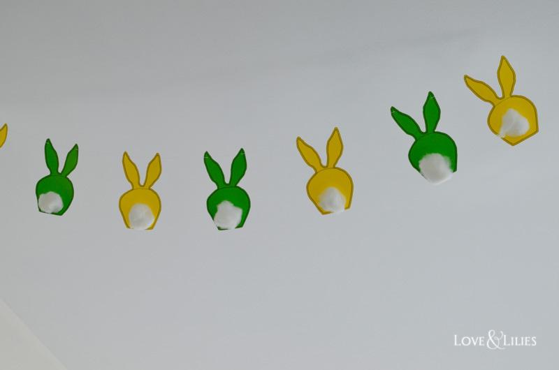 LoveAndLilies.de // Hasengirlande für das Osterfest