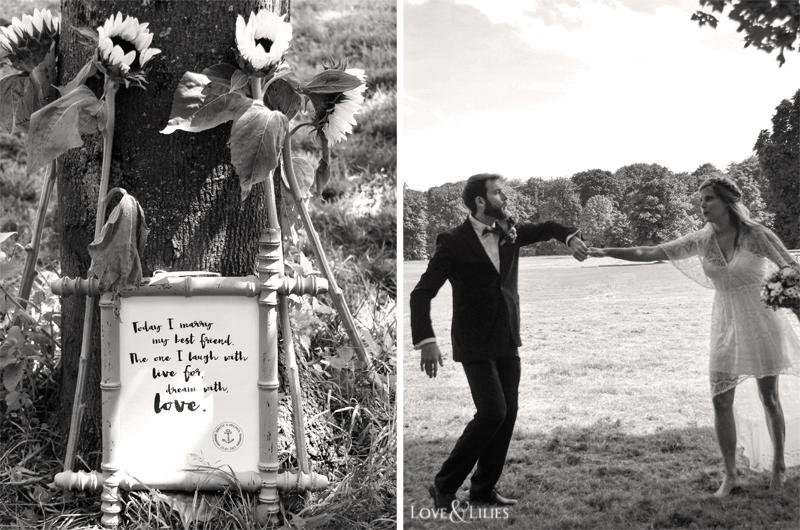 """LoveAndLilies.de // Vntage Holzschild für das Brautpaar """"Today I marry my best friend..."""""""