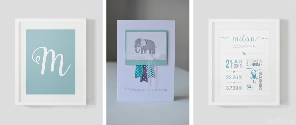 LoveAndLilies.de // Prints zur Geburt mit passender Babykarte