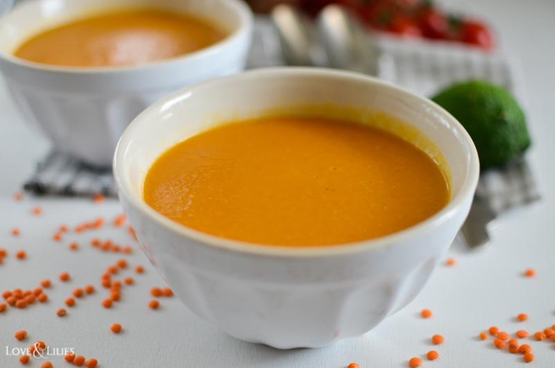 LoveAndLilies.de | Einfach und unheimlich lecker: Rote Linsen-Kokos-Suppe