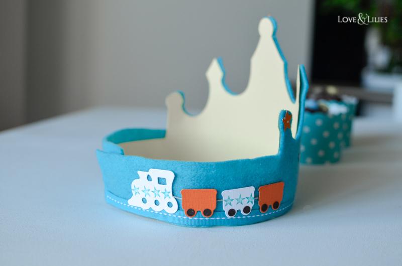 LoveAndLilies.de // Eisenbahn Geburtstagskrone zum Kindergeburtstag