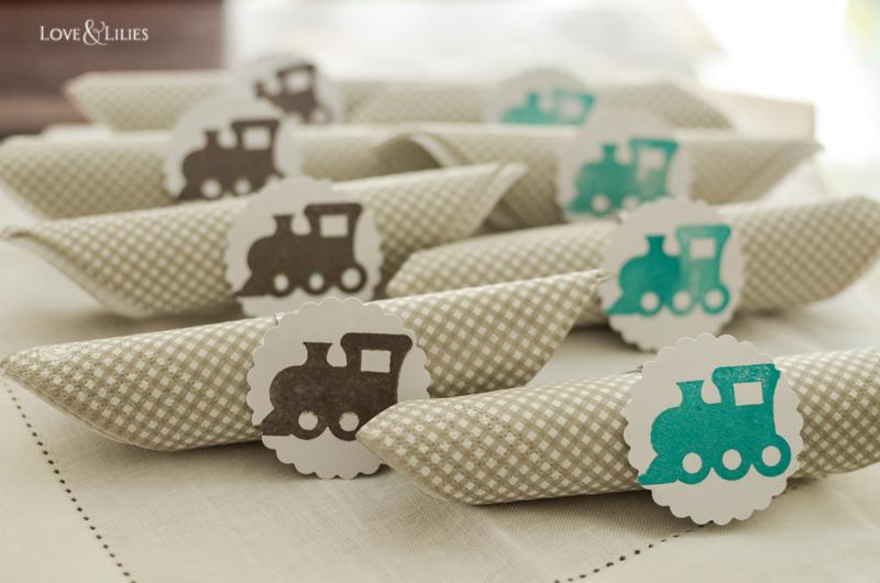 LoveAndLilies.de // Serviettenringe mit Lokomotiven zum Kindergeburtstag