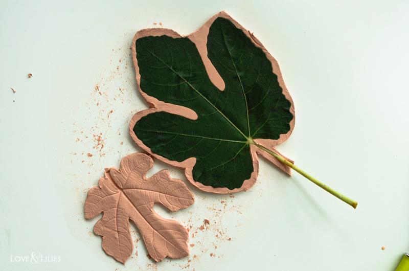 LoveAndLilies.de | DIY: Feigenblatt-Schalen aus Fimoair Modelliermasse