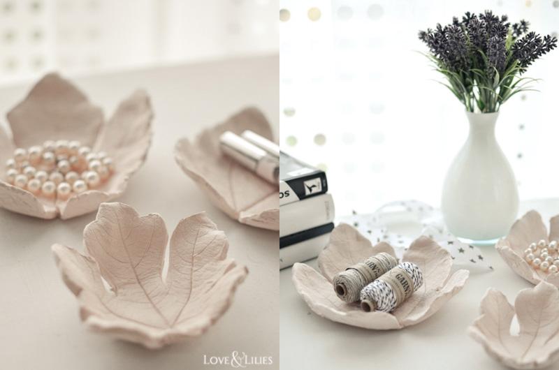 LoveAndLilies.de | Herbst-DIY: Tonschalen mit Blattstruktur aus Modelliermasse. Eine tolle Aufbewahrungsmöglichkeit für Allerlei Schönes