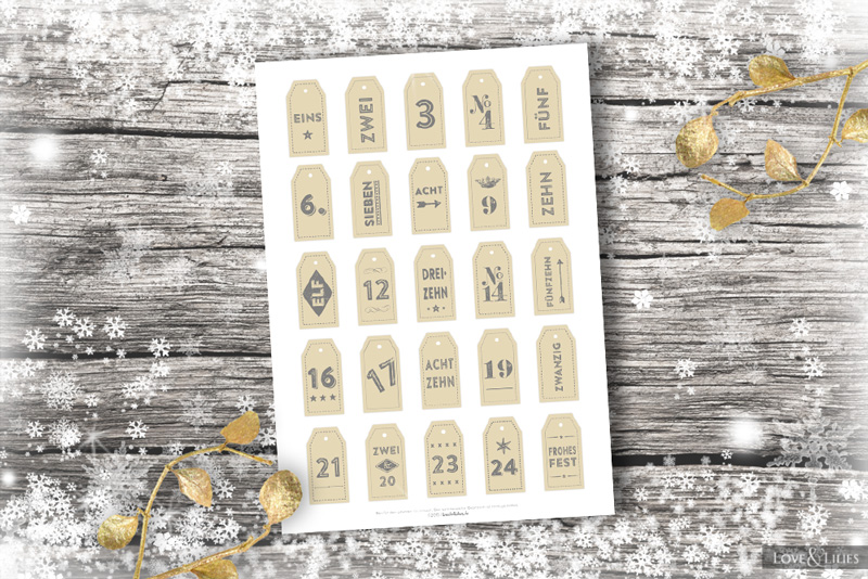 Freebie Adventskalender Zahlen Zum Download
