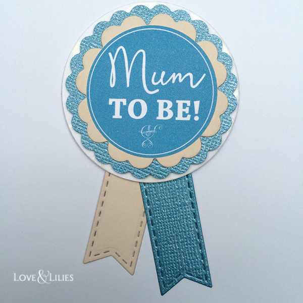 "LoveAndLilies.de | Babyshower Babyparty Ideen:  Anstecker ""Mum to be"""