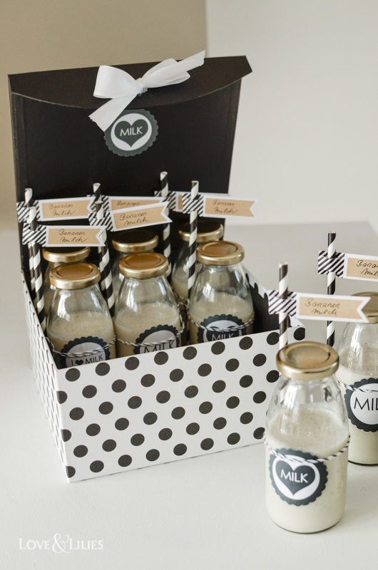 LoveAndLilies.de | Bananenmilch zur Babyparty | Banana Milk - Babyshower Ideas