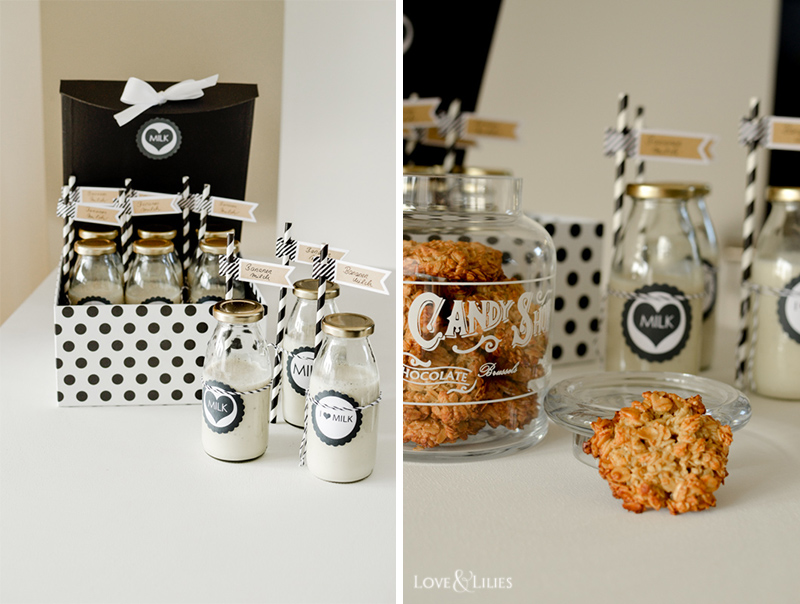 LoveAndLilies.de | Cookies und Bananenmilch zur Babyparty | Cookies & Banana Milk - Babyshower Ideas