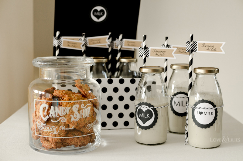 LoveAndLilies.de | Milch und Cookies zur Babyparty | Milk and Cookies - Babyshower Ideas