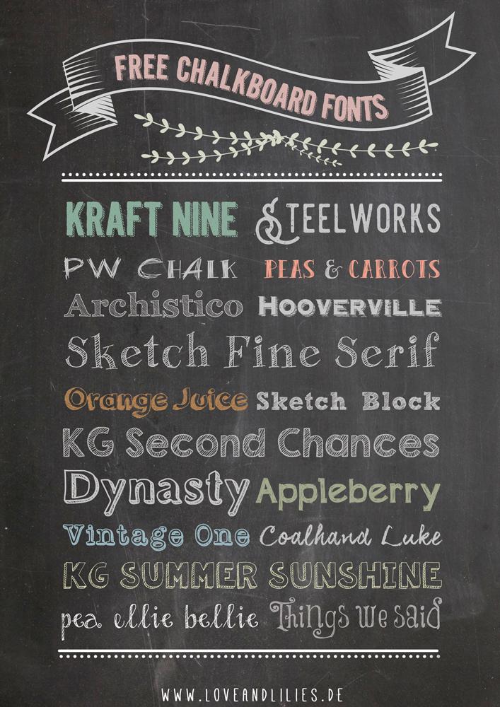 LoveAndLilies.de | Free Chalkboard Fonts