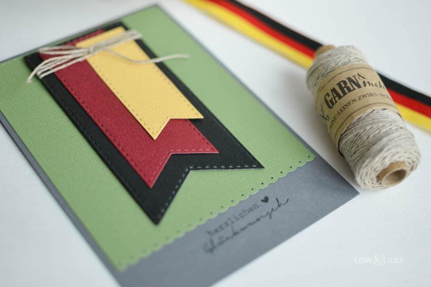 LoveAndLilies.de | Selbstgemachte Geburtstagskarte Fußball EM - für Fußballfans