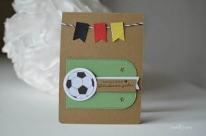 Geburtstagskarte Fußball Wimpel1