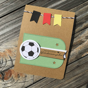 LoveAndLilies.de | Selbstgemachte Geburtstagskarte Fußball EM