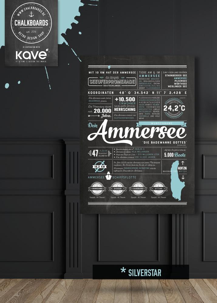 KAVE | CHALKBOARDS.DE Ammersee Plakat Chalkboard