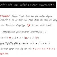 LoveAndLilies.de // Schriftbeispiel Handschrift MyScriptFont