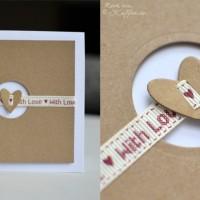 DIY Hochzeitskarte With Love Herz