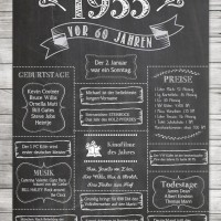 LoveAndLilies.de // Chalkboard DIY Ideas Retro Style Birthday Poster 1955