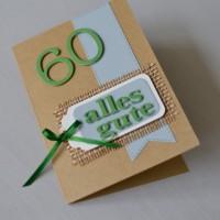 Love & Lilies // Karte Alles Gute zum 60. Geburtstag 3