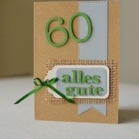 Love & Lilies // Karte Alles Gute zum 60. Geburtstag 5