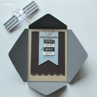 LoveAndLilies.de // Geburtsagskarte Mann Happy Birthday im passenden Kuvert mit Banderole