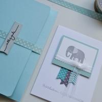 LoveAndLilies.de // Zur Geburt: Glückwunschkarte Baby mit Kuvert