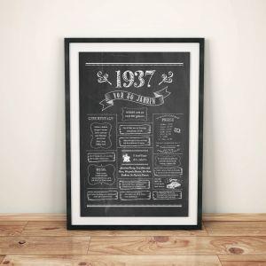 LoveAndLilies.de / Geburtstags Chalkboard 1937 im Retro Stil