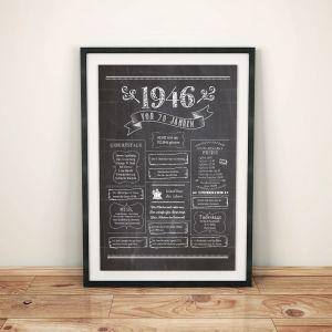 LoveAndLilies.de / Geburtstags Chalkboard 1946 im Retro Stil
