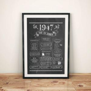 LoveAndLilies.de / Geburtstags Chalkboard 1947 im Retro Stil