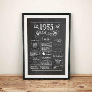 LoveAndLilies.de / Geburtstags Chalkboard 1955 im Retro Stil