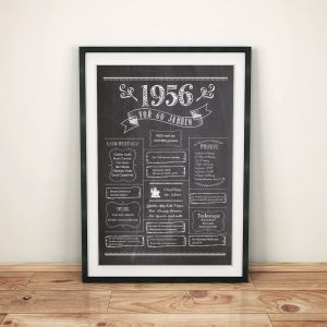 LoveAndLilies.de / Geburtstags Chalkboard 1956 im Retro Stil