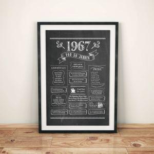 LoveAndLilies.de / Geburtstags Chalkboard 1967 im Retro Stil