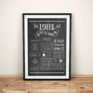 LoveAndLilies.de / Geburtstags Chalkboard 1982 im Retro Stil