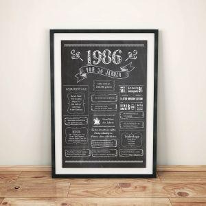 LoveAndLilies.de / Geburtstags Chalkboard 1986 im Retro Stil